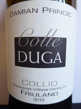 Friulano 2016, Colle Duga Damian Princic, Collio Goriziano DOC