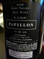 Orin Swift Papillon 2008