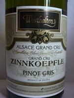 Pinot Gris Zinnkoepflé Grand Cru Westhalten 2006