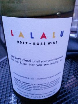Lalalu Rose 2017, Inconnu Wines