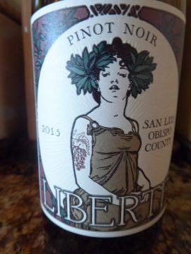 Pinot Noir Liberté 2015, Familia Nueva Vineyard