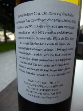 Badreben Abt Blauburgunder 2015, Weingut Bad Osterfingen