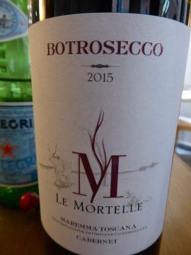 Bottrosecco 2015, Fattoria Le Mortelle