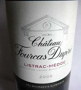 Château Fourcas Dupré 2005, Bordeaux, Listrac-Médoc, Cru Bourgeois Supérieur