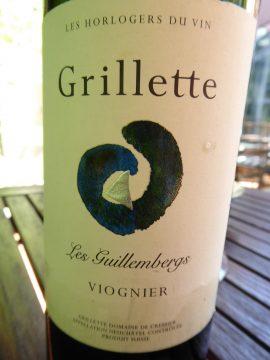 Viognier Les Guillembergs 2017, Grillette Domaine de Cressier