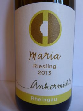 Riesling Maria 2013, Ankermühle, Rheingau