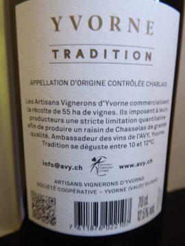 Yvorne Tradition 2018, Artisans Vignerons d'Yvorne (AVY)